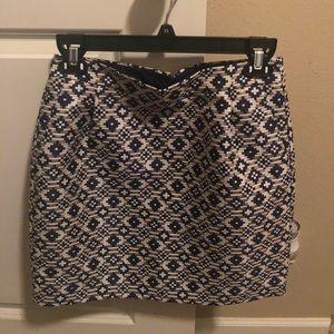J Crew blue sparkly skirt size 0